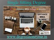 Get Distance MBA Single Sitting Degree in India
