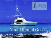 Yacht Rental Goa