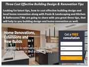 Three Cost Effective Building Design & Renovation Tips