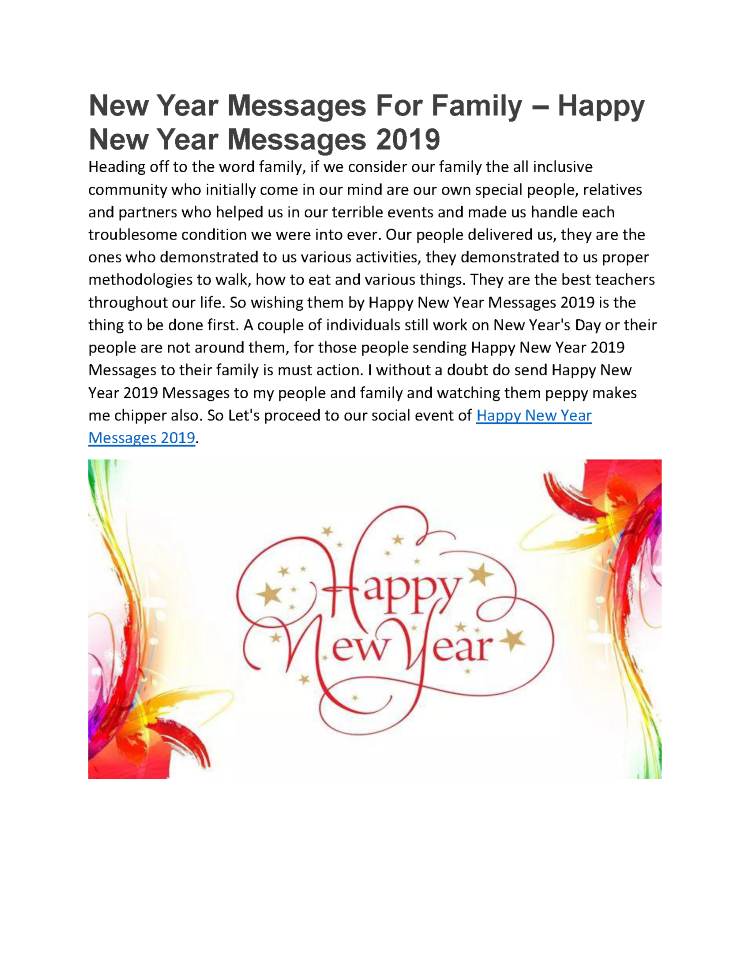 new year messages for family happy new year messages 2019