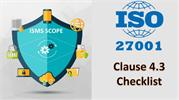ISO 27001 Checklist - ISMS SCOPE- clause 4.3