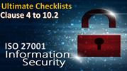 Ultimate Checklist - Clauses 4 to 10.2 Checklist - ISO 27001 Checklist
