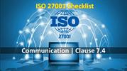 ISO 27001 Checklist - Communication - clause 7.4