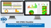 ISO 27001 Checklist | Monitoring,measurement,analysis & evaluation|9.1