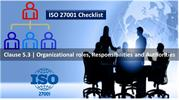 ISO 27001 Checklist - Roles, responsibilities & authority - Clause 5.3
