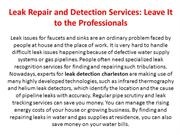 Leak Repair and Detection Services