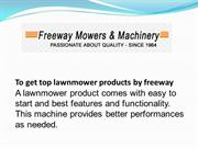 To get top lawnmower products by freeway