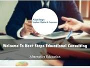 Next Steps Educational Consulting  Presentations