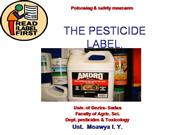 The pesticides label