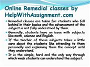 Online Remedial Classes at HWA