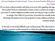 Reverse Telephone Number Search - Trace a Contact Number With Just a F