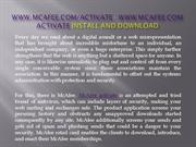 www McAfee com activate - McAfee support