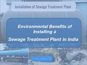 Environmental Benefits of Installing a Sewage Treatment Plant in India