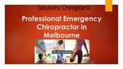 Emergency Chiropractic Services Melbourne