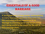 Essentials of a Good Marriage