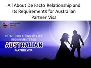 All About De Facto Relationship and Its Requirements for Australian Pa