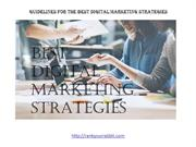 GUIDELINES FOR THE BEST DIGITAL MARKETING STRATEGIES