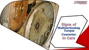 Signs of Malfunctioning Torque Converter in Cars