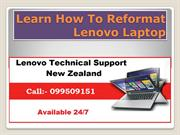Learn How To Reformat Lenovo Laptop
