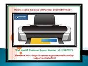 How to resolve the issue of HP Printer error 0x61011bed