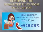 Removing The Unwanted Files From Dell Laptop