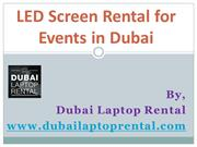 LED Screen Rental for Events in Dubai