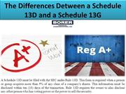 The Differences Detween a Schedule 13D and a Schedule 13G
