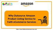 Why Outsource Amazon Product Listing Service to Faith