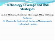 Technology Leverage and R&D Strategies