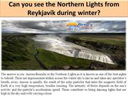 Can you see the Northern Lights from Reykjavík during winter