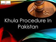 Khula Procedure In Pakistan