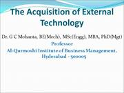 The Acquisition of External Technology