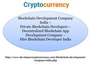 Blockchain Development Company India, Private Blockchain Developers, D