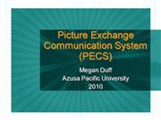 Picture Exchange Communication System