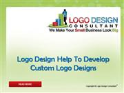 Logo Design Help to Develop Custom Logo
