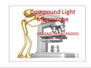 PPT COMPOUND MICROSCOPE FOR PHYSIOLOGICAL LAB; BY DR QAZI IMTIAZ