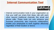 Talk Freely- Internal communication Tools for better communication wit