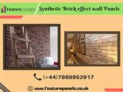 New Model of Synthetic Brick effect wall Panels - Feature Panels