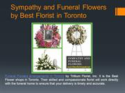 Sympathy and Funeral Flowers by Best Flower Shops in Toronto