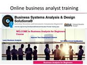 Business analyst course online