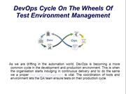 DevOps Cycle On The Wheels Of Test Environment Management