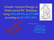 Seismic/Analysis & Design of Multi-storied RC Buildings - STAAD/