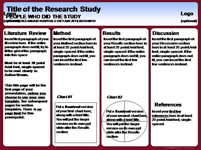 poster session templates