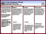 Poster Session - Template