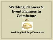 Event planners and decorators in Coimbatore