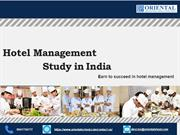 Hotel Management study in India