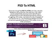 PSD to HTML conversion services!