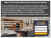 Want To Hire Home Renovation Company in Sydney
