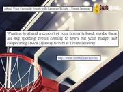 Attend Your Favorite Events with Layaway Tickets - Eventslayaway