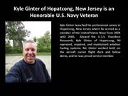 Kyle Ginter of Hopatcong NJ is an Honorable U.S. Navy Veteran